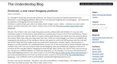Journalist 1.9 theme on underdog blog